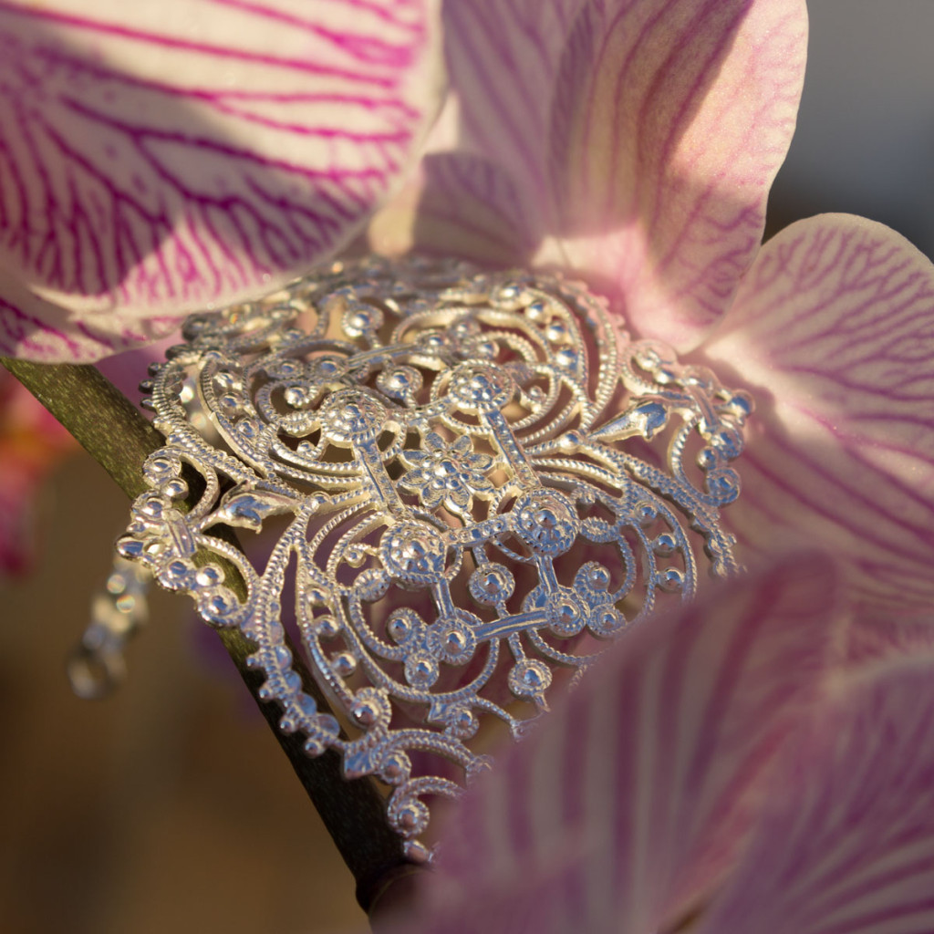 Bijoux vintage Bracelet dentelle argenté
