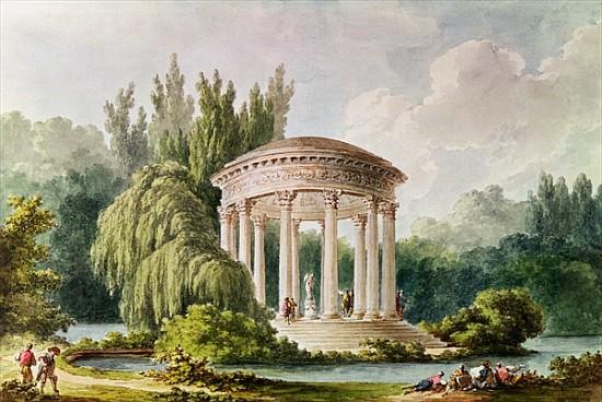 Temple of Love, Petit Trianon (w/c)  by Anonymous; watercolour; Biblioteca Estense, Modena, Italy